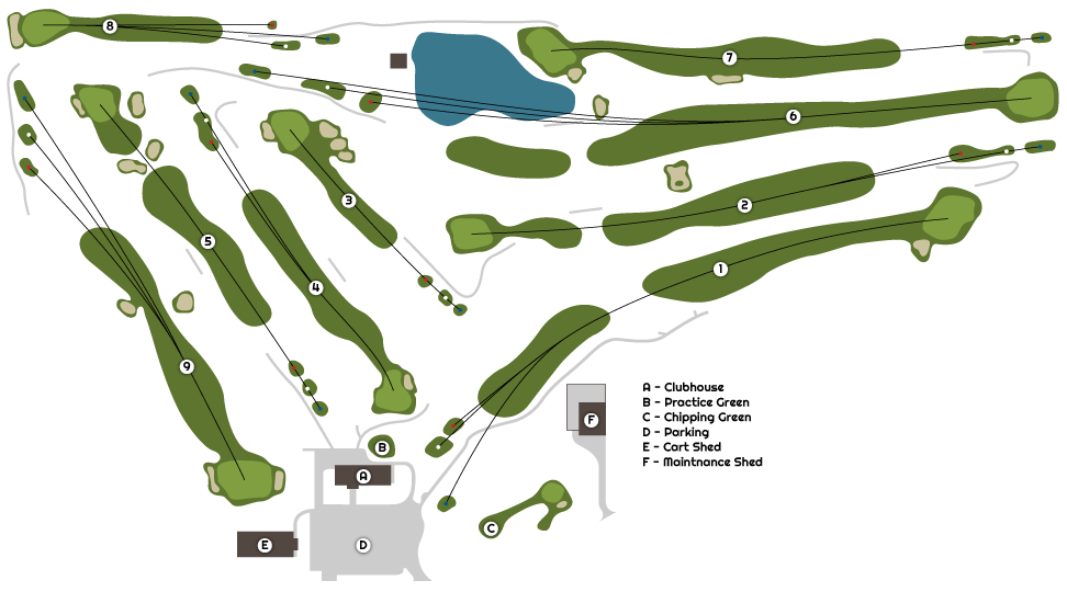 Three Elms Golf Course Map